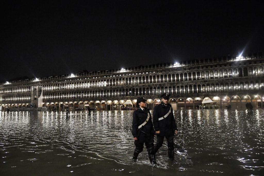 Calles de Venecia inundadas. (Foto: AFP)