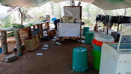 Un laboratorio de cocaína en Bolivia (Interpol)